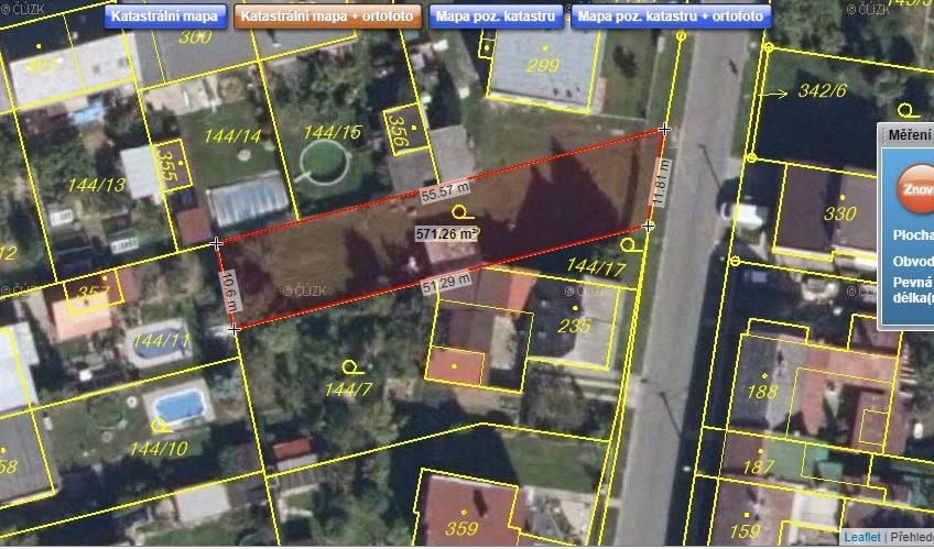 Prodej stavebního pozemku Bohuňovice